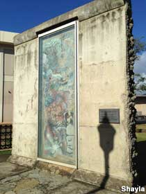 Honolulu Community College has a large Berlin Wall ion display on campus.  And we're not giving it back.
