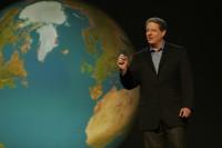 "Al Gore addresses film, ""An Inconvenient Truth."""