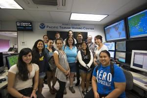 HCC students visit the Pacific Tsunami Center in Ewa.