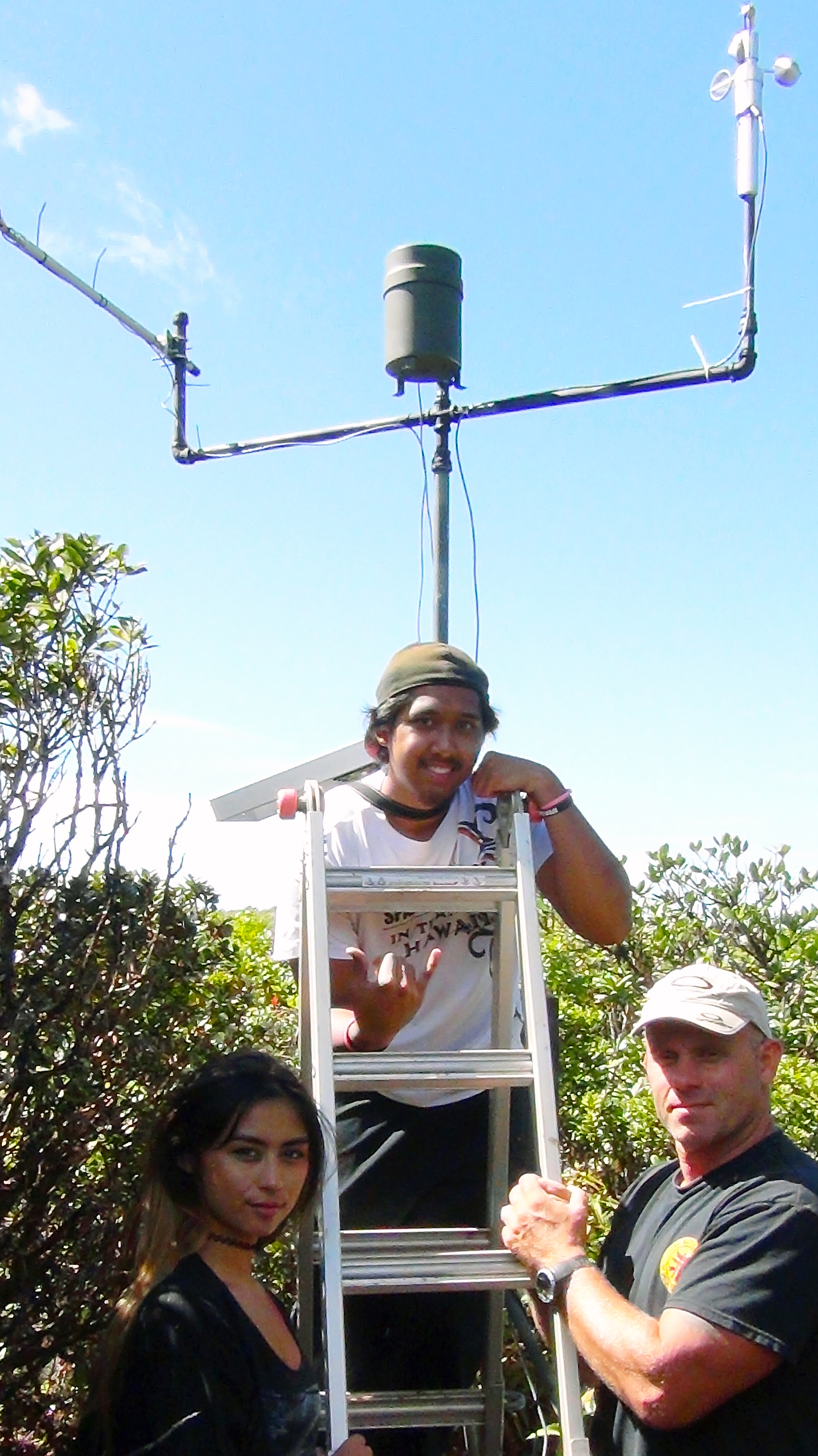 Honolulu CC students helped install and monitor an instrument station on Mt. Ka'ala