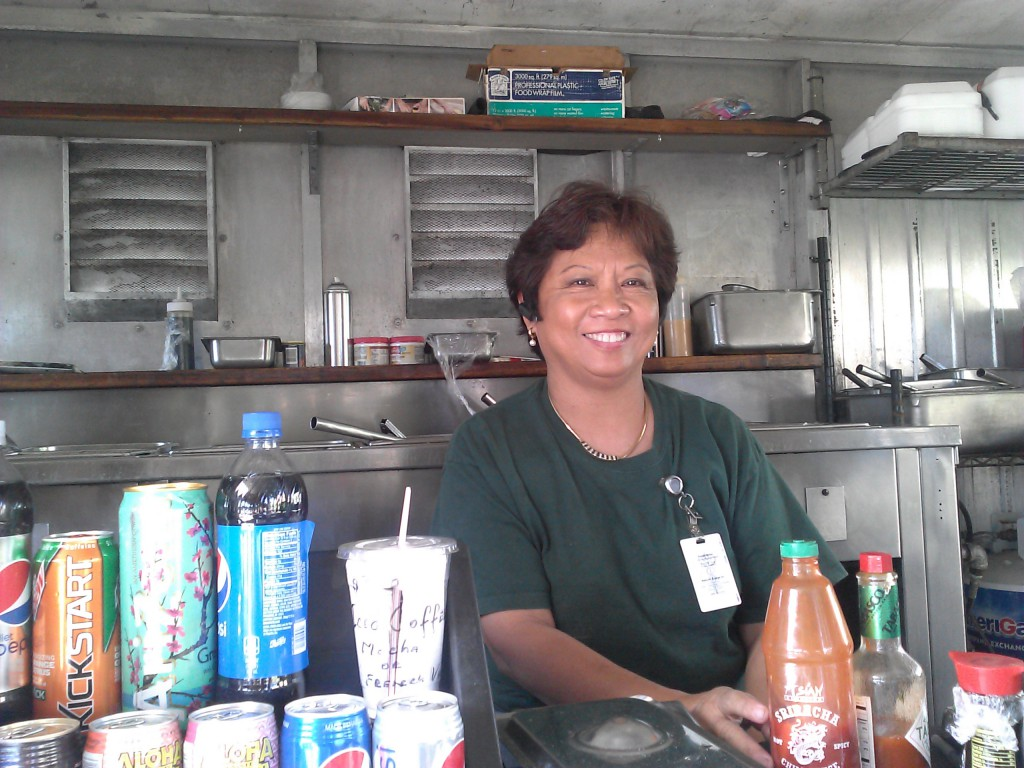 """Cora Stevens, an owner of the Simply Ono food truck on campus, says she enjoys being on campus, where the students are """"real down to earth and very respectful."""""""