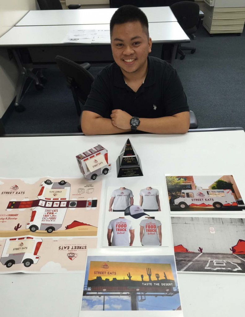 Kevin Tumbaga took top honors at the recent Pele Awards for advertising