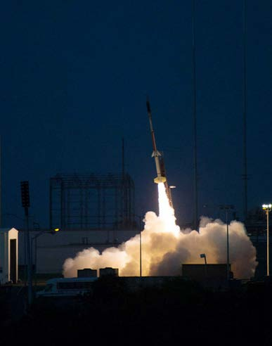 A two-stage Terrier-Improved Malemute sounding rocket launched  August 12, carrying the work of some UH community college students into space.